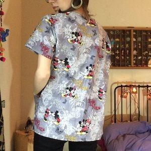 Disney Tops - Mickey & Minnie Mouse Scrubs Top Disney W/Poskets